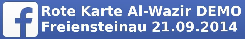 Rote Karte Al-Wazir DEMO Freiensteinau 21.09.2014